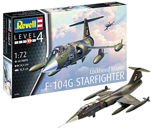 Revell - Maqueta de F-104G Star Fighter, Kit Modelo, Escala 1: 72 (03904)