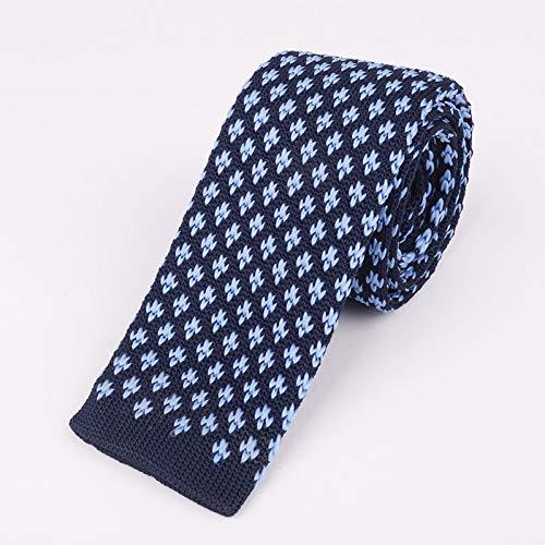 LXTMWSJ Krawatte Strick 5,5 cm Flache Krawatte Männer Krawatte Mit Moderner Wolle Jacquard Star Dot Dünne Krawatte Geschenke Für Männer Kleidung Zubehör Hochzeit