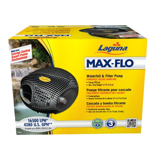 Laguna Max-Flo 4280 Electronic Waterfall and Filter Pump for Ponds Up to 8560-Gallon
