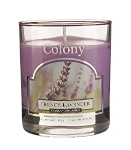 Duftkerze französischer Lavendel im Glas Brenndauer 30 bis 40 h