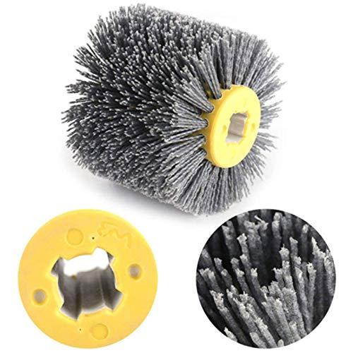 Nylonbürste, Drahtziehrad Pinsel Polieren Polierscheibe Körnung,80-240 Körnung- Nylonbürste Schleifbürste für Satiniermaschine (80#)