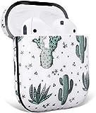 Surakey Cover Per Apple Airpods 1 & 2,Custodia Protettiva Per Airpods 1 & 2,Custodia Cuffie Morbido in Silicone con Design,Marmo Cuffie Case,Fiore Cuffie Case,Cactus