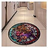Kfdzsw Micro Interruptor Redondo Reino Corazones círculo círculo Alfombra Portero Piso Alfombra Alfombra Redonda casa Alfombra Hotel Sala de Estar esteras Antideslizante Cosplay
