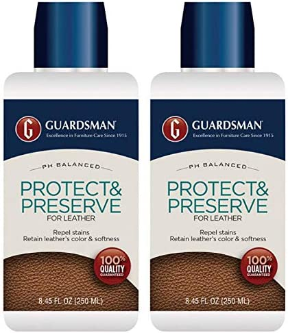 Guardsman Protect Preserve for Leather 8 4 oz Repels Stains Retains Color and Softness Great product image
