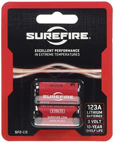 Surefire Batterien Lithium 123A 3V 2-er Packung, Rot, 3.3x1.5x1.5 cm