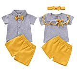 DaMohony Ropa para bebés hermanos hermanas conjuntos traje de camiseta...