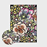 Alfombras Salon Grandes,Boho Large Size Non Slip Area Rugs Moroccan Cartoon Flower Soft Ethnic Carpet Outdoor Picnic Mat Art Home Decor For Living Dining Room Bedroom Kitchen,120X180Cm(47.2X70.8In)