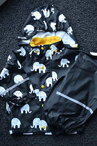 Celavi - Manteau imperméable - Garçon - Multicolore (color 324) - FR : 7-8 ans (Taille fabricant : 120)