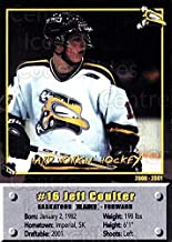 (CI) Jeff Coulter Hockey Card 2000-01 Saskatoon Blades 17 Jeff Coulter