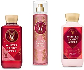 Bath and Body Works Winter Candy Apple Shower Gel, Body Lotion, Fine Fragrance Mist Daily Trio Gift Set 2018