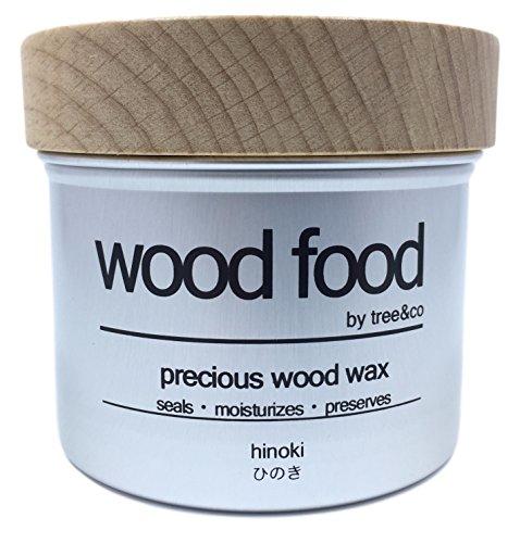[Cuidado completo para productos de madera y bambú] Wood Food Cera para Tablas de Cortar, Muebles y Juguetes para niños (Ciprés japonés (Hinoki), 200ML)