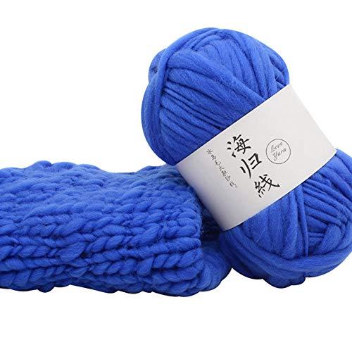 FeiliandaJJ Wolle Zum Stricken & Häkeln 50g Polyester Hand Strickgarn Strickwolle für Hüte Pullover Schal Decke Strickprojekt - 8 Farben (C)