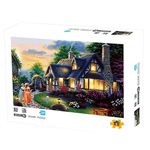Shotbow Puzzle Landscape Jigsaw Puzzles Cozy Manor House Educational Puzzles 500 Piece A Challenging & Cooperative Art Jigsaw Puzzle for Adult Kids (Multicolor)