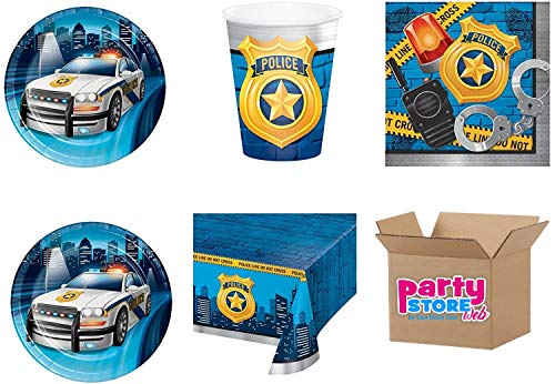 Party Store Web by Casa Dolce Home Communicatiebord voor kinderen, 24 bekers, 32 servetten, 1 tafelkleed