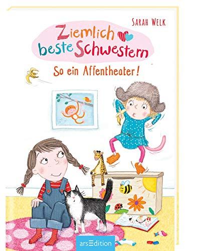 Ziemlich beste Schwestern - So ein Affentheater! (Ziemlich beste Schwestern 2): Lustiges Kinderbuch mit vielen Bildern für freche Mädchen und Jungen ab 7 Jahre