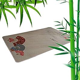ACUIPP Tapis de Coureur Tapis En Bambou Tapis En Rotin Naturel Tapis D'Été Tapis Tressé En Bambou Tapis Rampant Tapis…