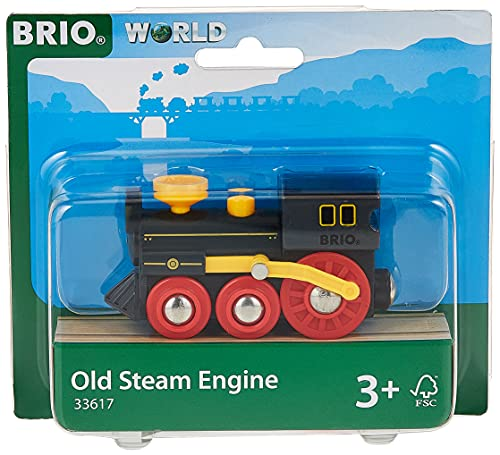 BRIO World - 33617 Old Steam Engine   Train Toy for Kids Ages 3 and Up