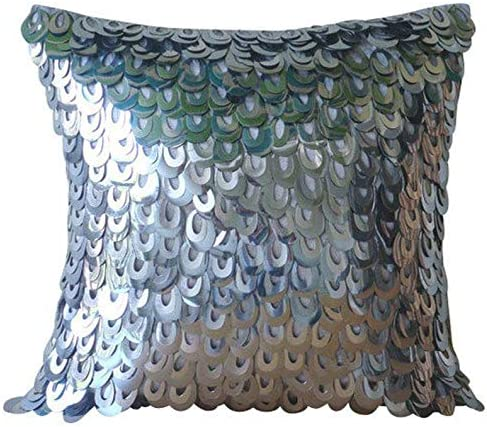 The HomeCentric Handmade Silver Accent New Orleans Mall Solid Deco Philadelphia Mall Art Pillows P