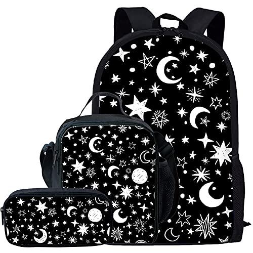 Showudesigns Mochila de la escuela de los niños animales de la impresión lindo con el bolsillo, Una galaxia, One_Size,