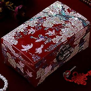 beidexiaowu Luodian Laca Joyero Joyero Princesa Europea Coreana Caja de Almacenamiento Caja de joyería Cierre