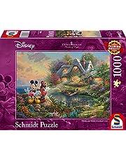 Schmidt - SCH-59639 - Disney Mickey & Minnie, 1000 stukjes Puzzel - vanaf 12 jaar - disney puzzel - van Thomas Kinkade