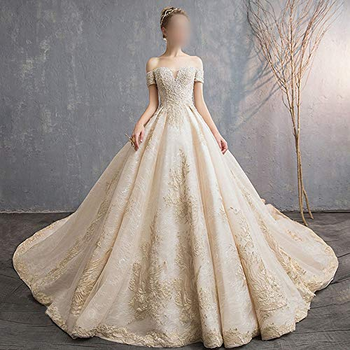 ZSRHH-Kleid Frauenkleid Ballkleid Sweetheart Brautkleid Hochzeit Braut für Frauen Brautkleider (Design : Flat, Size : S)
