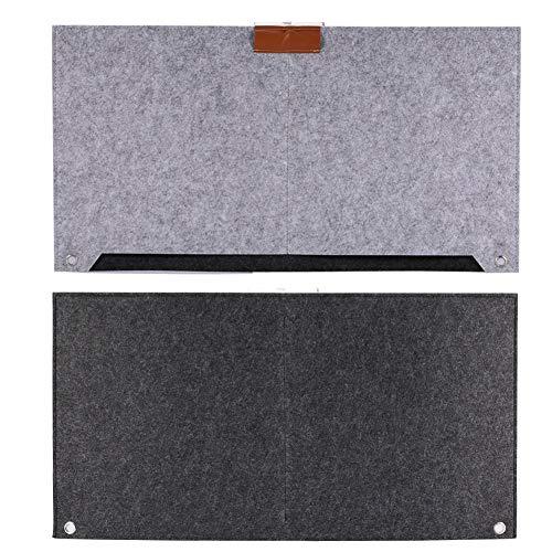 WESE Tischunterlage, graue Schreibtischunterlage Tischunterlage Gute Isolierfilze Schreibtischunterlage Schreibtischunterlage für Büro und Zuhause(Hellgrau)