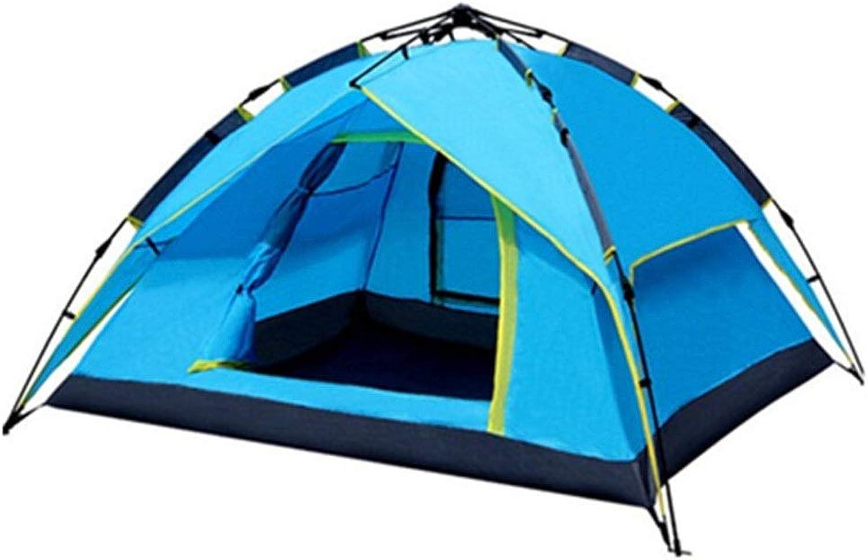 Yishelle Strandzelt Pop Up Camping Zelt 3-4 Personen Doppel Regendicht Für Strand, Garten, Camping, Picknick (Farbe   Blau, Gre   230cm210cm140cm)