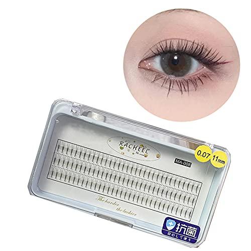 Faux cils RUI Individuel Cluster 0,07 C Curl Eye Lash Extension Santé Outils De Maquillage De La Queue 3D Longueur De La Queue Longue 8-13mm