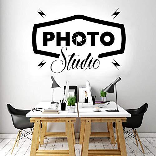 AGiuoo Diseño Creativo Estudio fotográfico Etiqueta de la Pared Decoración de Interiores de Oficina Calcomanías para Ventanas Puerta Fotógrafo Signo Murales Arte extraíble 166x114cm