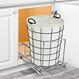 Lynk Professional Bin Holder Pull Out Under Cabinet Sliding Organizer, 10 inch Wide x 20 inch deep, Chrome