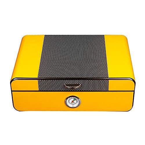 QinWenYan Zigarren Humidor Zigarren-Storage Box Zedernholz Humidor for Reisen (Color : Yellow, Size : 280x200x100MM)