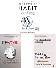 The Power of Habit: Why We Do What We Do, and How to Change+ReWork: Change the Way You Work Forever+Thinking, Fast and Slo...