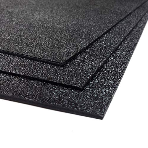 ABS Plastic Sheet 3-pack 12' X 24' X 0.0625' (1/16') 3 Pack, Black Haircell, for VEX Robotics Teams, Hobby, DIY, Industrial. Easy to Cut, Bend, Mold.