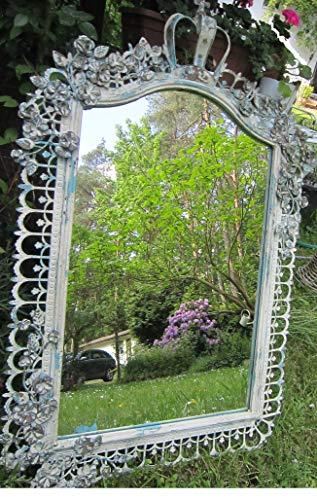 van Deurs Spiegel Spiegelfenster Landhaus Country Shabby Creme-weiß/blau Vintage