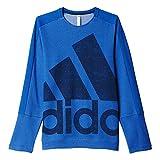 Photo de adidas ATC Logo Crew Sweat-Shirt Homme, Bleu, FR : L (Taille Fabricant : L)