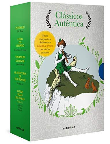 Caixa Clássicos Autêntica - Vol. 2 - (Texto integral - Clássicos Autêntica): Peter Pan; A ilha do tesouro; Viagens de Gulliver; As aventuras de Tom Sawyer; As mais belas histórias Vol. 2
