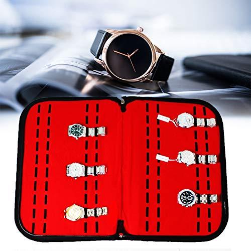 Estuche de colección Mantener bien organizado Contenedor de reloj Caja de almacenamiento de reloj 20 ranuras Sin polvo Fácil de usar para escritorio Organizador