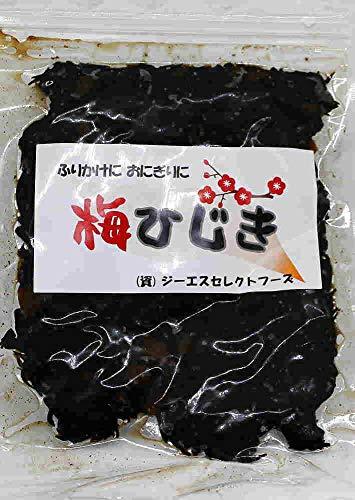海藻問屋 梅ひじき 大容量300g徳用パック 広島県産 生ふりかけ 海藻 自然食品 (ZIP包装)