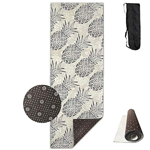 YYRR tapis de yoga Unisex Pineapple Food Custom Printing Yoga Mats With Carrying Bag