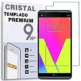 REY Protector de Pantalla para LG V20, Cristal Vidrio Templado Premium