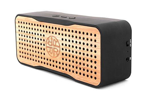 Solar Speaker, Portable Wireless Bluetooth Bamboo Speaker &...