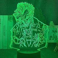 3DイリュージョンナイトライトUSB LEDランプスリープルームのための装飾 3Dナイトライト、ピエロ3Dナイトランプ4パック16色ボーイズ女の子のためのリモートコントロール動物のおもちゃベッドルームホームデコレーションや子供の誕生日クリスマスギフトの光を変更します