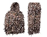 North Mountain Gear Woodland Camo Ghillie Suit 3D Leaf with Zippers and Pockets (Woodland Brown, Large)