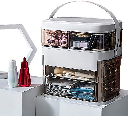 Inshere Makeup Organizer with Mirror and Light Large Makeup Skincare Organizers and Storage product image