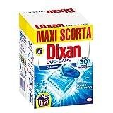 Dixan Duo-Caps Classico Detersivo Lavatrice Predosato in Caps, Pulito Profondo, Confezione da 112 Lavaggi