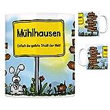 Mühlhausen (Kraichgau) - Einfach die geilste Stadt der Welt Kaffeebecher Tasse Kaffeetasse Becher mug Teetasse Büro Stadt-Tasse Städte-Kaffeetasse Lokalpatriotismus Spruch kw Speyer Bruchsal
