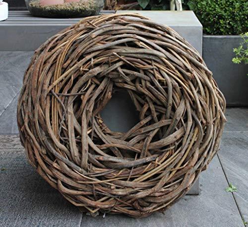 Homeclassics Großer Shabby Kranz Türkranz Wandkranz Ø 50 cm Gartendeko Naturkranz Landhaus