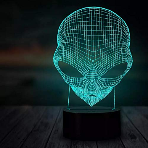 3D Night Light 3D Led Illusion Lamp Night Light 16 Colors Auto Changing Touch Switch with Remote Control for Give Children Or Male and Female Friends Gifts