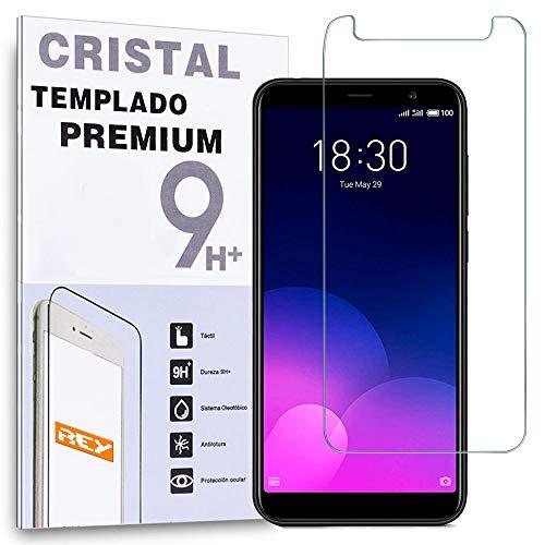 REY Protector de Pantalla para MEIZU M6T, Cristal Vidrio Templado Premium